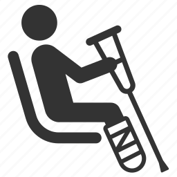 disabilities, hospital, medical, patient, priority, public transportation, seat icon