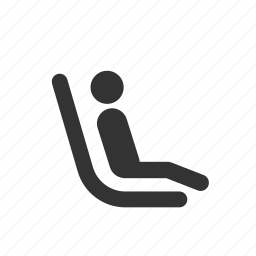 chair, child, kid, priority, public transportation, seat, wait icon
