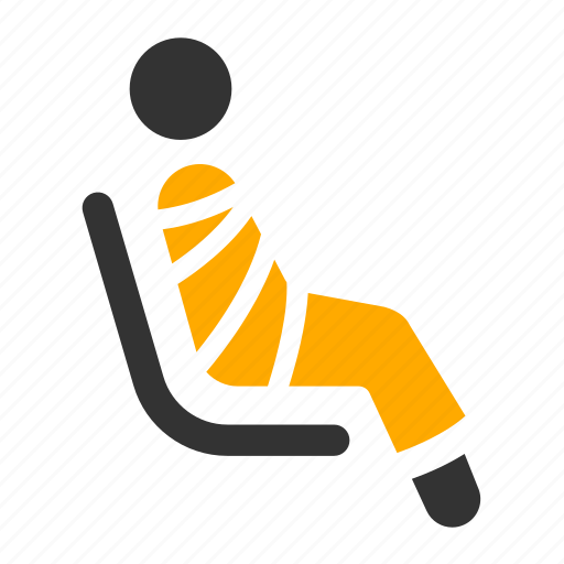 chair, monk, priest, priority, public transportation, seat icon