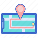 gps, location, map, tracking