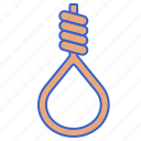 dead, die, rope, suicide icon