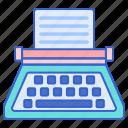 machine, typewriter, writing