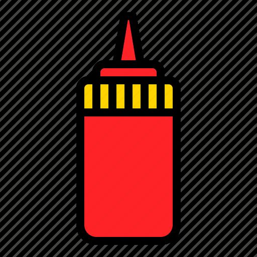 condiment, sauce, sauce bottle, squeeze bottle icon