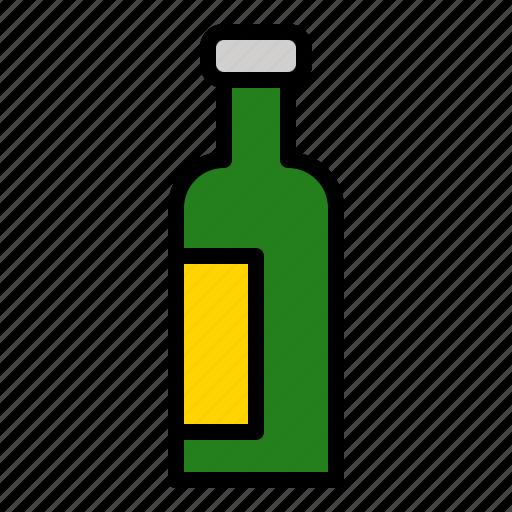 beverage, bottle, drinks, glass icon