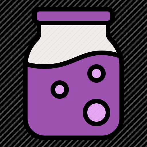 bottle, glass, jam, jar, sauce icon