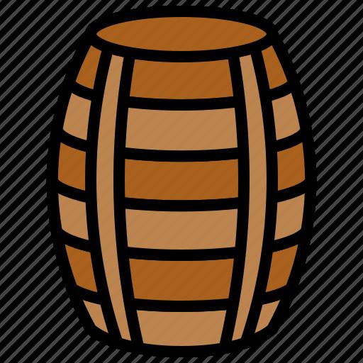 ale, barrel, beer, wooden icon