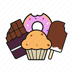 baking, confection, dessert, pastry, sugariness, sweetness, sweets icon