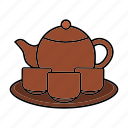 crockery, dishes, set, tableware, tea icon