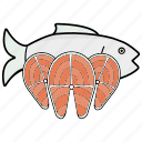 fish, salmon, seafood icon