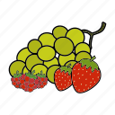 berries, fruits icon