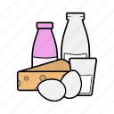 containing, dairy, milk icon