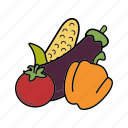 organic, vegan, vegetables, vegetarian icon