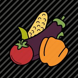 organic, vegan, vegetables, vegetarian icon