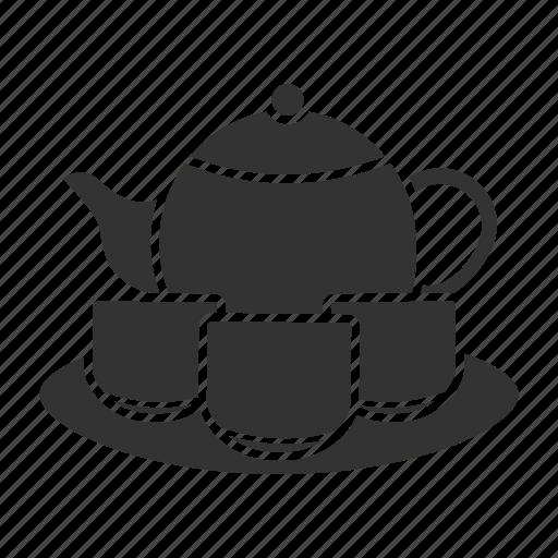 crockery, dishes, set, tableware, tea icon
