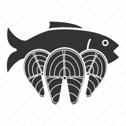 fish, salmon, seafood icon