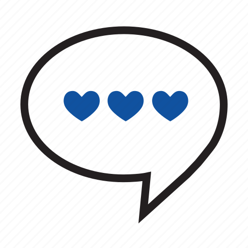 bubble, comment, feedback, heart, loyalty, review, speech, valentine icon
