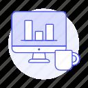 analysis, bar, chart, coffee, comparison, development, graph, product, statistic, testing