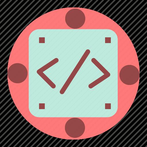 code, custom, implementation, management, produc icon