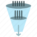 data, filter, filtering, filtration, funnel icon