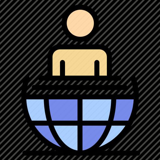 business, global, international, modern, process icon