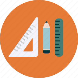 concept, design, pencil, ruler, user experience, wireframe, writing icon