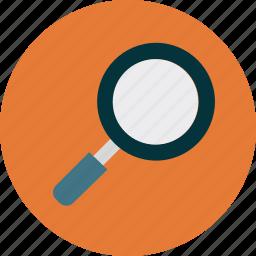 find, investigate, magnify, search icon