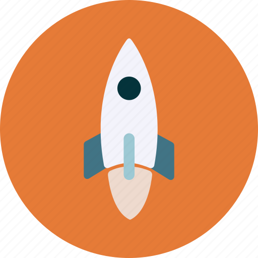 launch, rocket icon