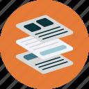 platform, pages, flat design, webdesign icon