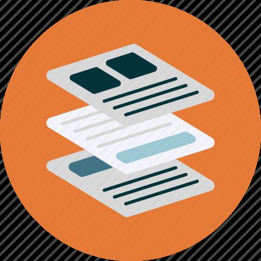 flat design, pages, platform, webdesign icon