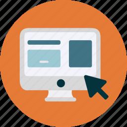 click, cursor, monitor, prototype, screen, user interface, website icon