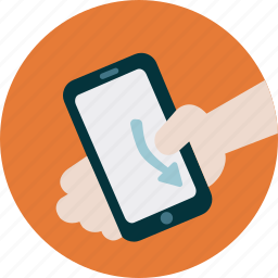 mobile, scroll, scroll down, simulation, swipe, technology, user experience icon