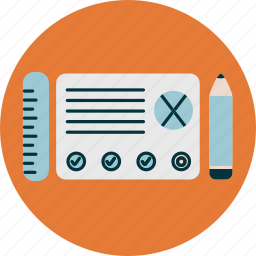 design, pencil, ruler, user experience, wireframe icon