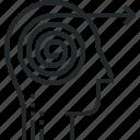 business, effort, focus, focusing, forward, solution, thinking icon