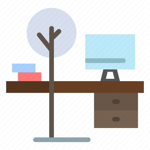 comfort, desk, office, place, table icon