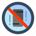 avoid, distractions, mobile, off, phone icon