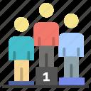pedestal, podium, winners icon
