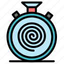 action, cycle, flow, nonstop, slow icon