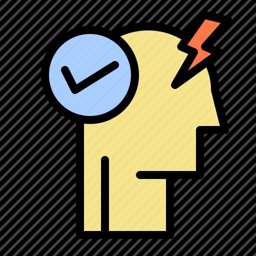 activate, brain, mind, mode, power icon