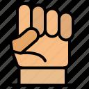 freedom, hand, human, power, strength icon