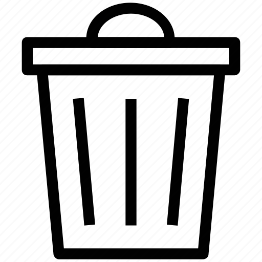 dustbin, garbage bin, garbage container, recycle bin, trash can icon