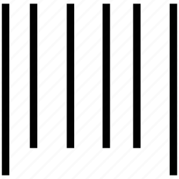 bar code lines, bars, equalizer, lines, sound bars icon