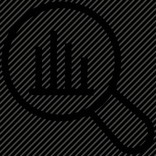 Analysis, analytics, infographics, magnifying, statistics icon - Download on Iconfinder