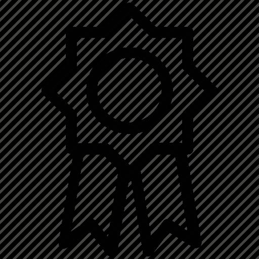 award badge, badge, certified, emblem, quality, ribbon badge icon