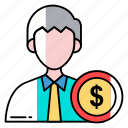 avatar, businessman, character, employee, human, profession, worker