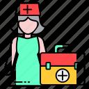 doctor, helper, medical, nurse, physcian, profession, staff