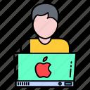 digital, laptop, logo, marketing, online, profession, worker