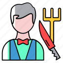 avatar, chef, employee, knife, profession, tools, worker