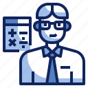 accountant, avatar, calculator, character, financial, job, profession icon