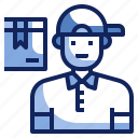 avatar, character, delivery, job, occupation, post man, profession icon
