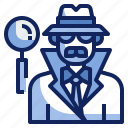 avatar, character, detective, job, man, profession, spy icon
